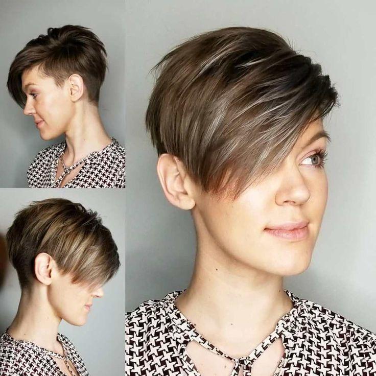 Tomboy Pixie Undercut Avec Frange Laterale Agitee Shorthairstylesbob Short Hair Agi Coupe De Cheveux Coiffure Courte Visage Rond Idees Cheveux Courts