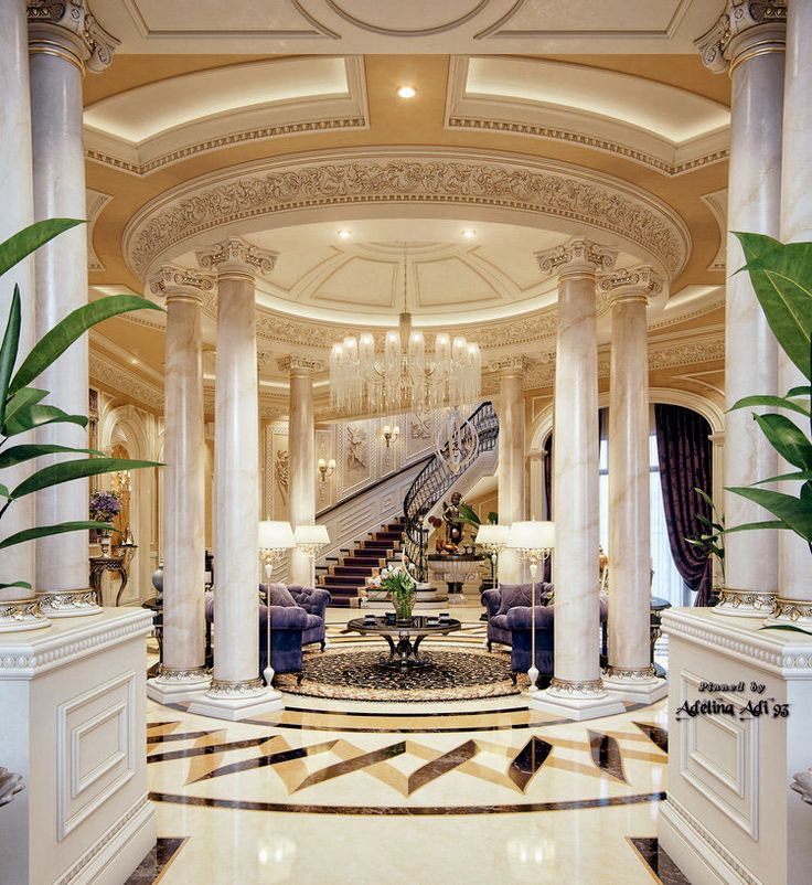 Luxury Mansion Foyer Interior Design