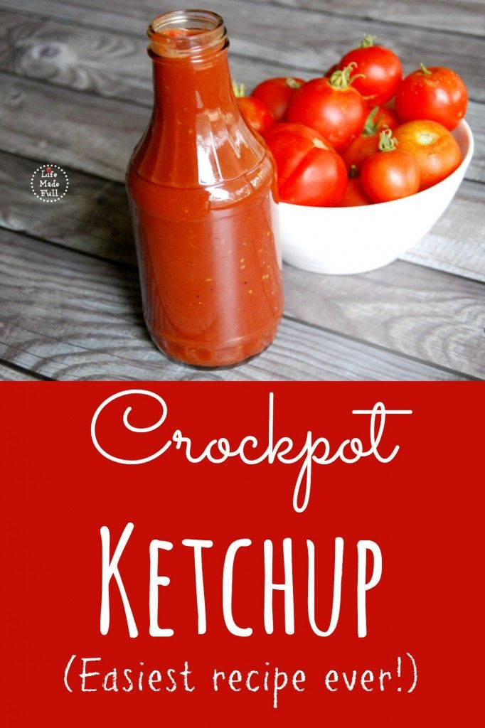 crockpot ketchup Haven't tried this yet but it's next on the list to make with our excess tomatoes!