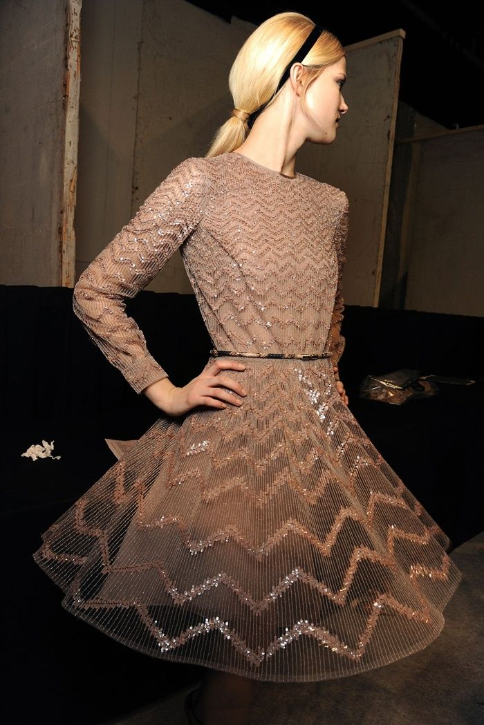 Valentino chevron sequin dress. Absolutely to die for!