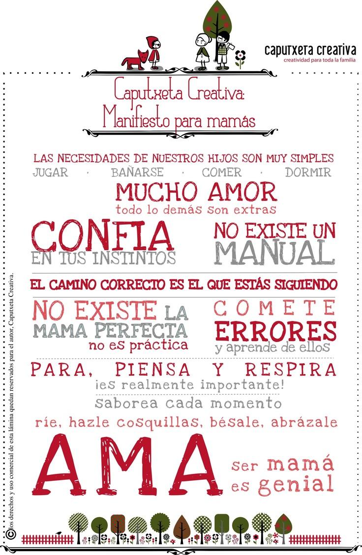 Manifiesto para mamás by caputxeta creativa