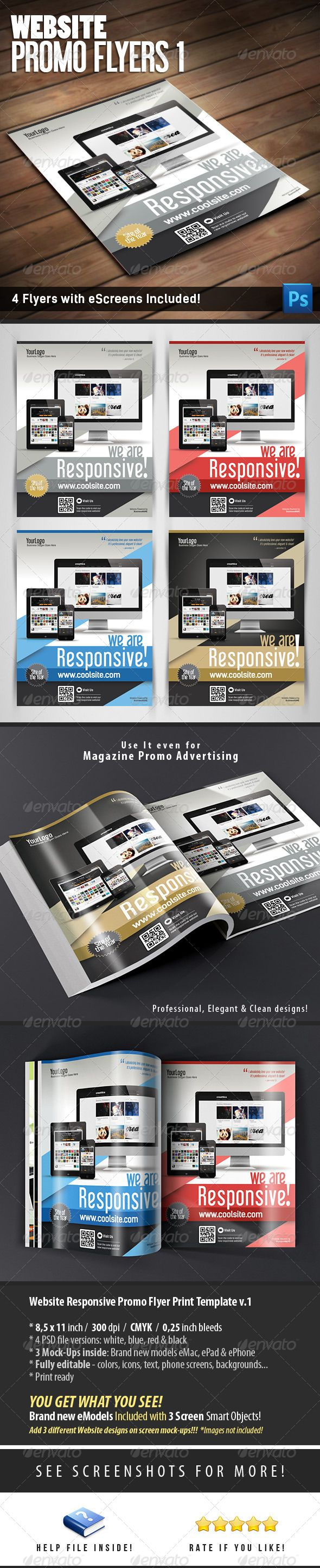 Website Responsive Promo Flyers Template V1