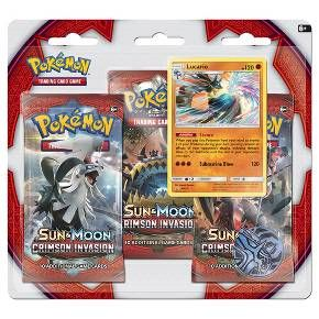 Give your collection a boost! Get in on the latest Pokemon Trading Card Game action with three awesome booster packs from the new Sun & Moon-Crimson Invasion expansion, a special holographic promo card, a cool Pokemon coin to add to your collection, and a code card for the Pokemon Trading Card Game online!