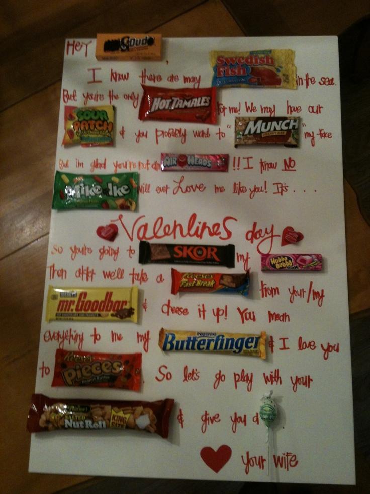 quick valentines idea for your boyfriendspouse - Cute Valentine Gifts For Boyfriend