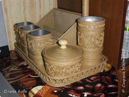 Поделка изделие Плетение Органайзер Дерево Трубочки бумажные фото 2