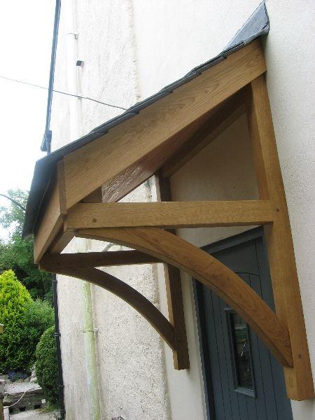 Quality Woodworks » Oak door canopy and Front door