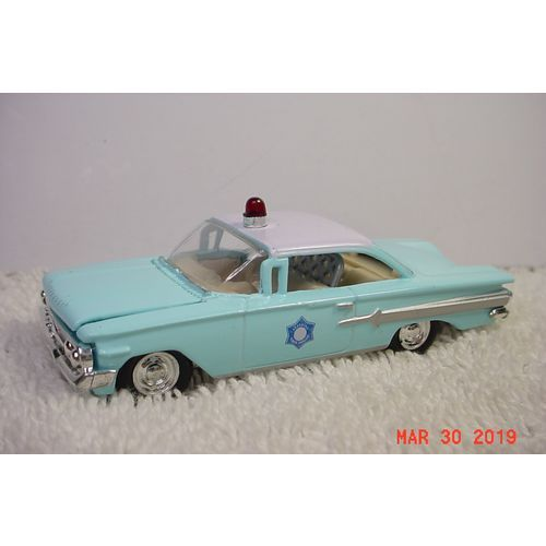1960 Chevrolet Impala Lt Blue & White Arkansas Police 1/64 Racing Champions #15 on eBid United States | 179221556