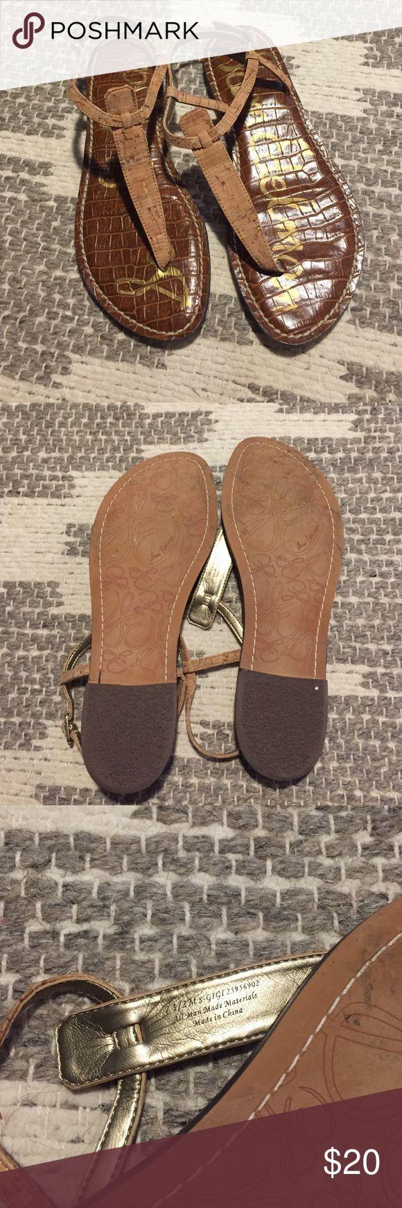 Sam Edelman Gigi cork sandals Worn once- like new! Sam Edelman Shoes Sandals