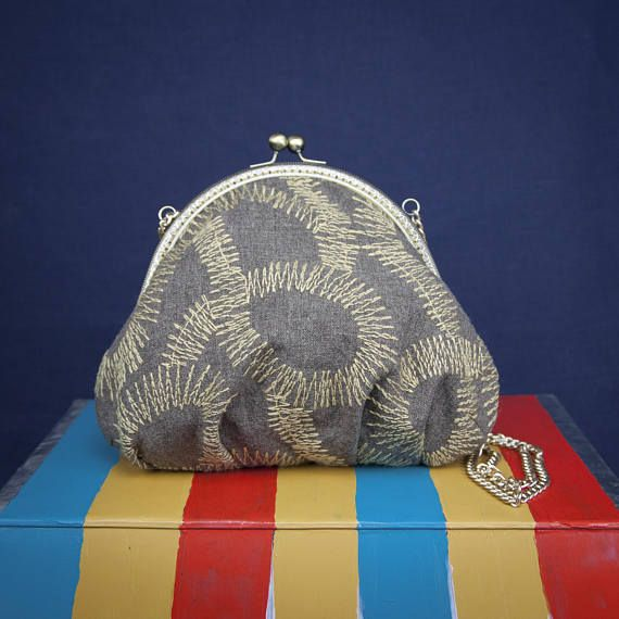 """SOLAR TENTACLES"" a bag by °Lily. Wallace INDEPENDENT LABEL.  www.lilywallace.com Mini Boho Bag  Embroidered cotton Purses Vintage bags Gifts"