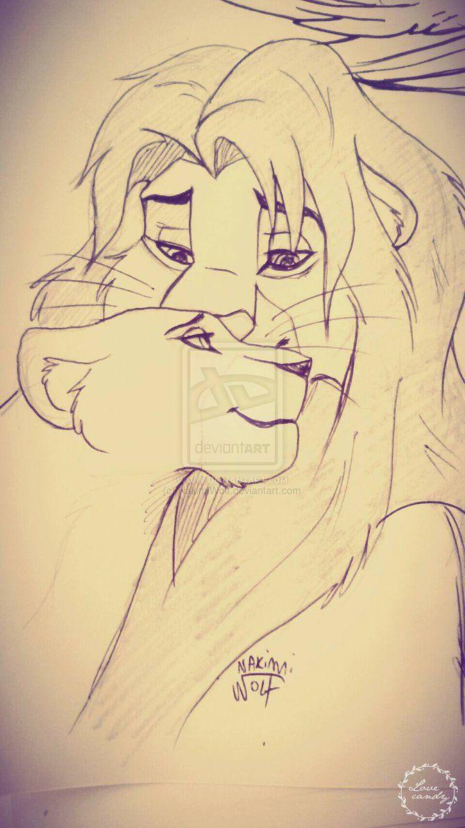 Simba Nala sketch by NakimiWolf