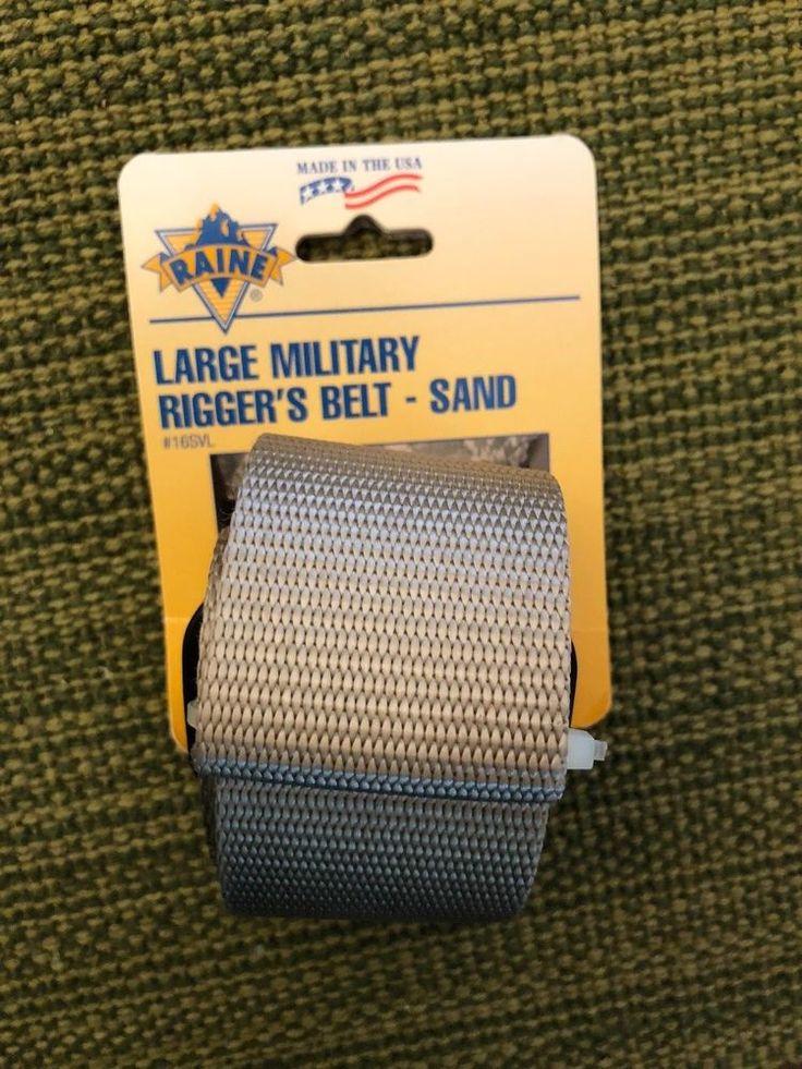 Raine Miliary Rigger's Belt, Metal Buckle w/ Hook/Loop