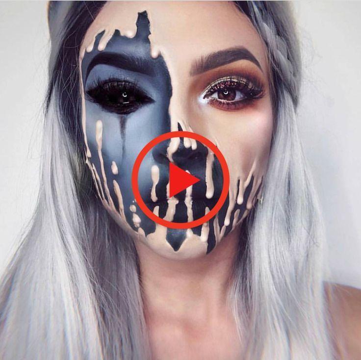 Halloween Ideas Boston 2020 half face melting halloween makeup look inspo inspiration ideas