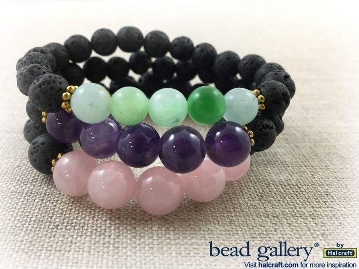 DIY Lava diffuser and semi-precious bracelets using Bead Gallery beads #madewithmichaels