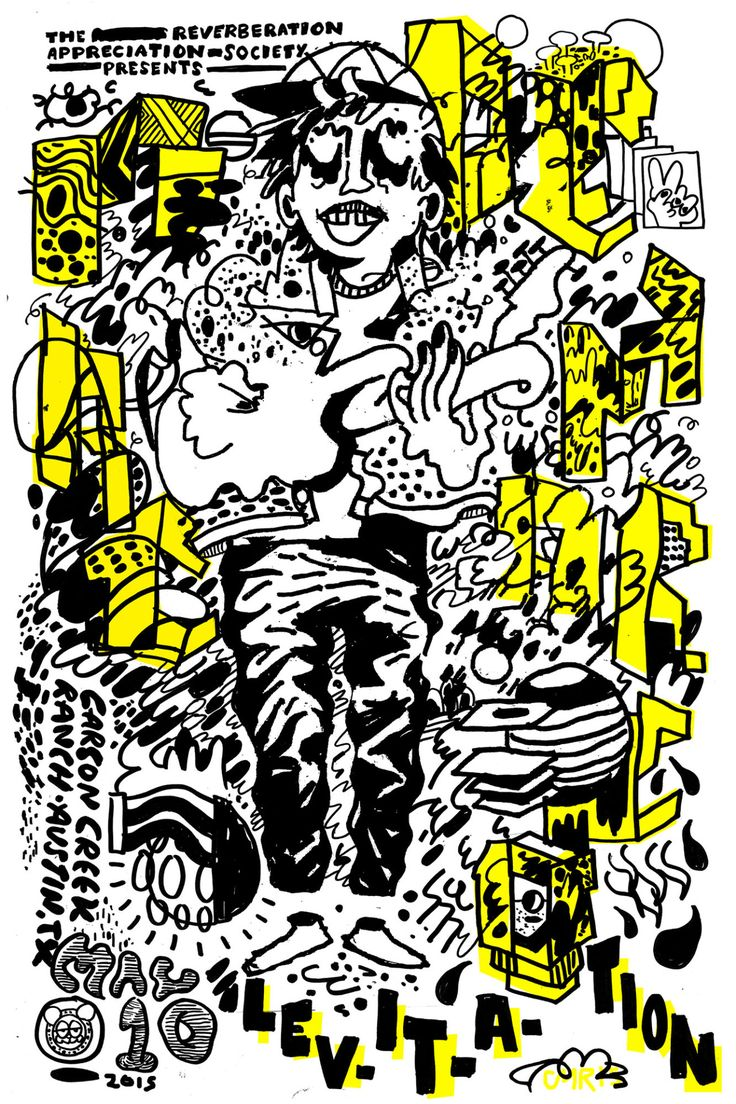 Poster design mac - Poster For Mac Demarco Austin Psych Fest Levitation 2015