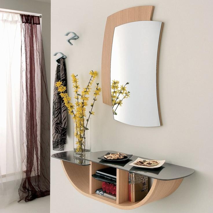 Ingresso con consolle, specchiera e 2 appendini Gondola by La Primavera  http://www.keihome.it/giorno/mobili-ingresso/gondola-la-primavera/2822/