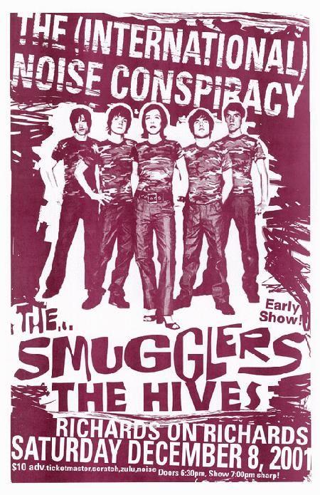 The International Noise Conspiracy... music gig posters | ... Music Posters - Memorabilia, Concert Poster, Silkscreen, Poster Art