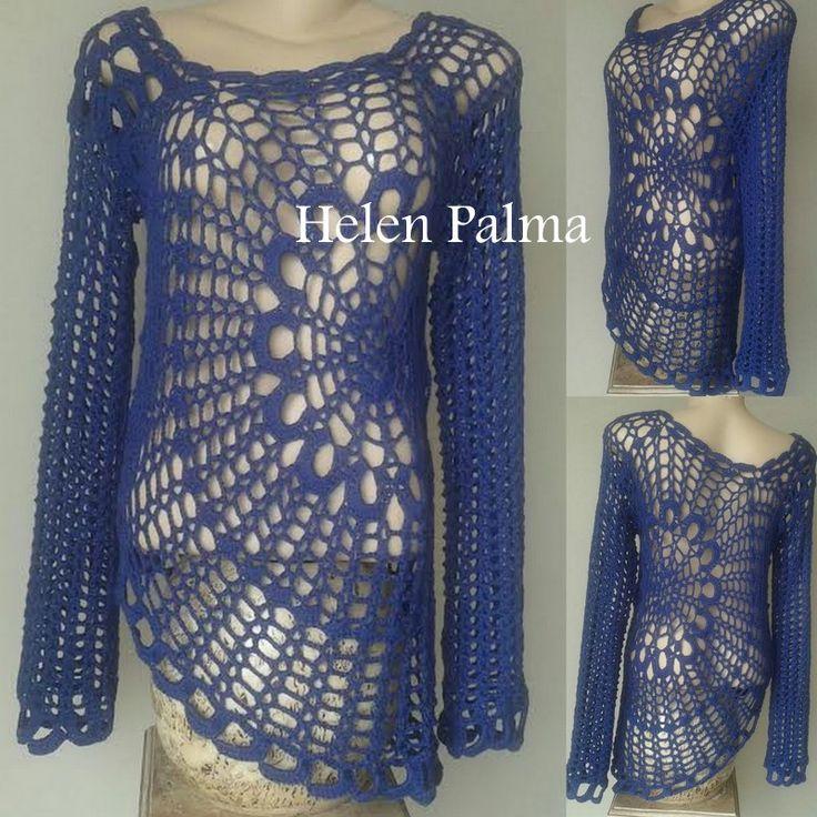sweater / blusa manga longa em crochet encomendas hcpalma@gmail.com
