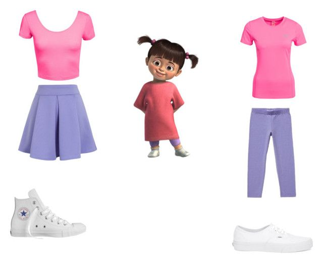 """""""Boo Monsters inc teen and child years"""" by dove-woman on Polyvore featuring Disney, Kari Traa, Vans, Chicwish and Converse"""