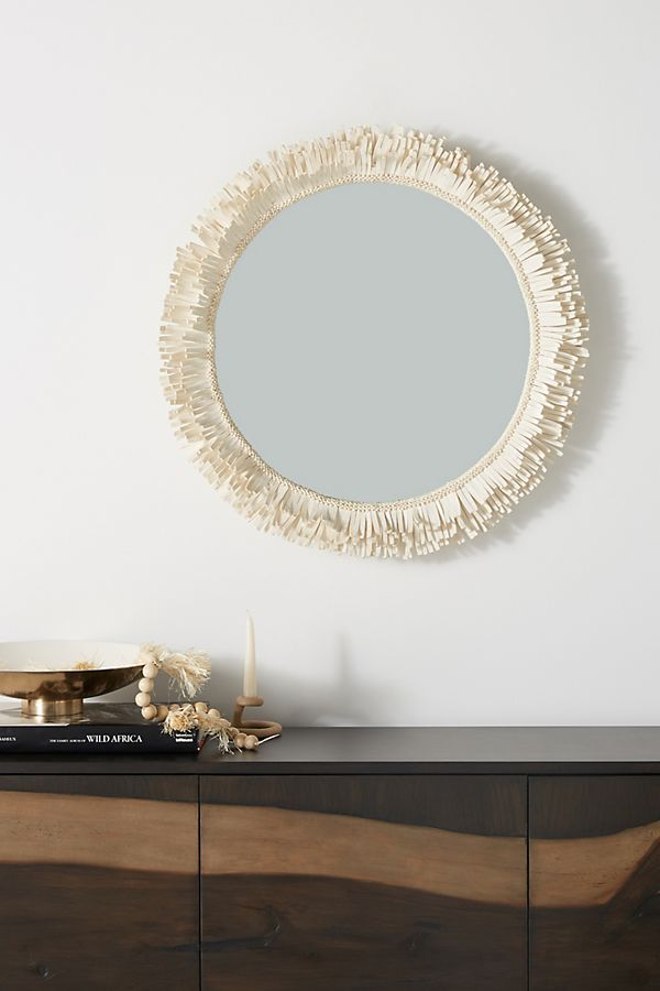 Fringed Mirror Mirror Decor Home Decor