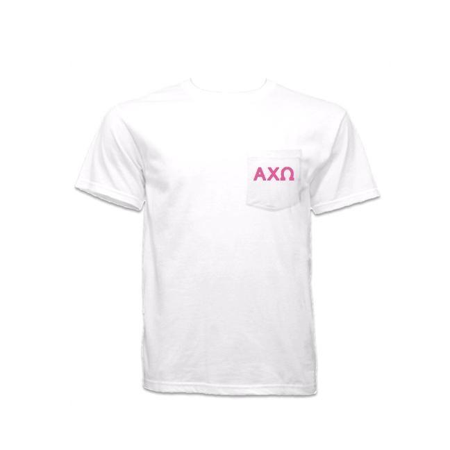 Alpha Chi Omega P... now available! Shop http://manddsororitygifts.com/products/alpha-chi-omega-pocket-shirt-gl?utm_campaign=social_autopilot&utm_source=pin&utm_medium=pin