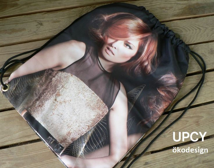 Továbbhasznosított, újrahasznosított reklám zászló molinó tornazsák hátizsák.  Upcycled gímbag - recycled backsack.