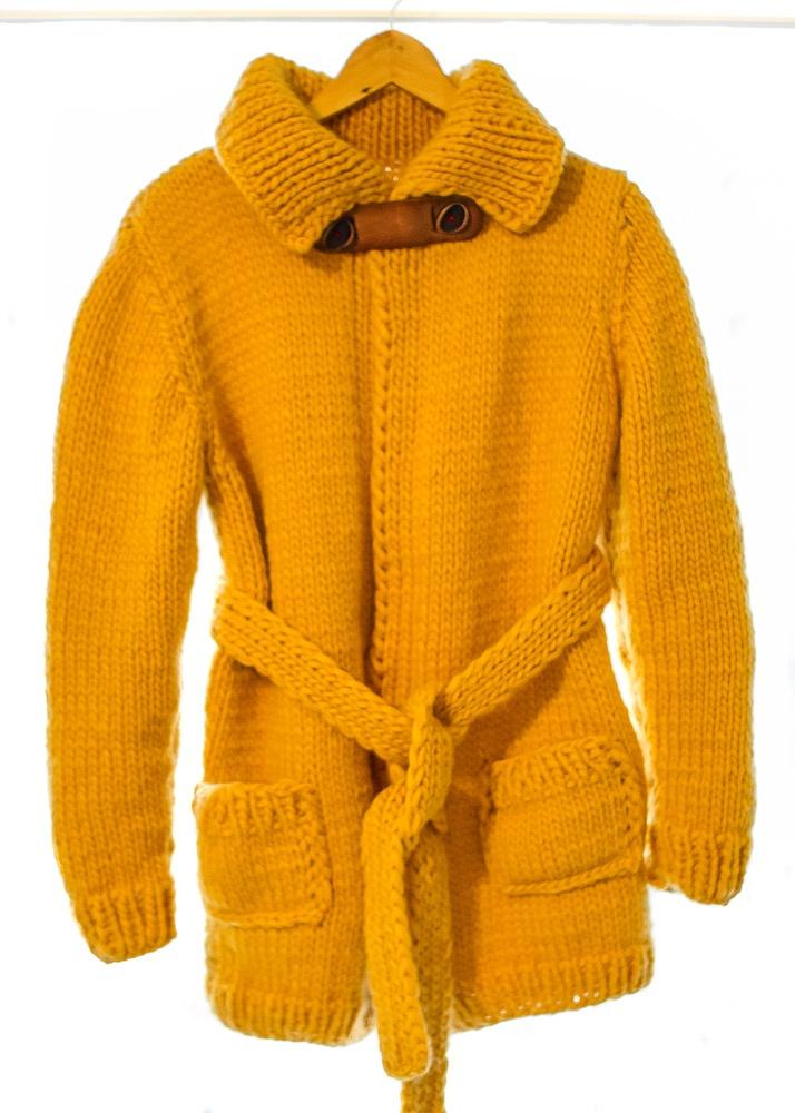 Love my new hand-knitted cardigan - wool: Lana Grossa Lei