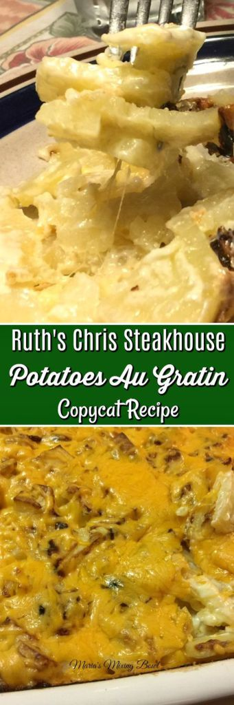 Ruth's Chris Steakhouse Potatoes Au Gratin Copycat Recipe  - One of those recipe my family asks for over and over again. It is creamy and has just the right amount of garlic and cream.