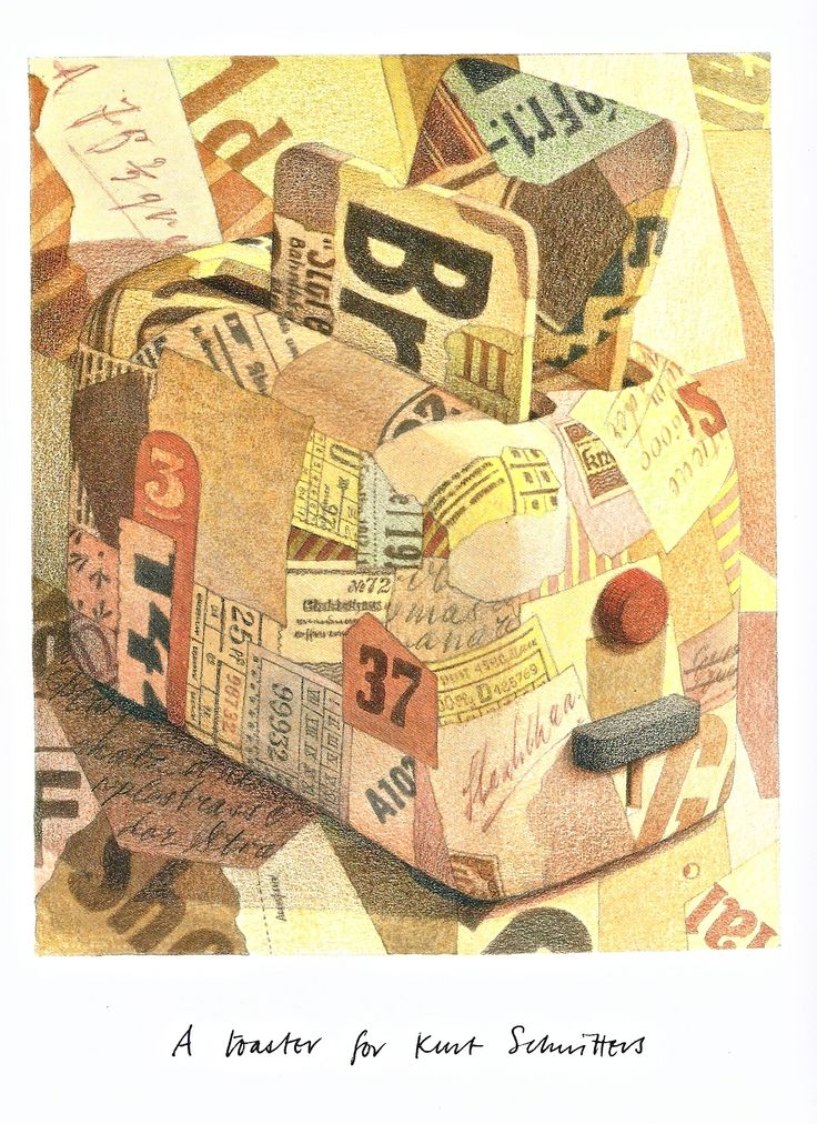 Page from Graham Percy's Arthouse, showing his idea of a toaster for Kurt Schwitters.