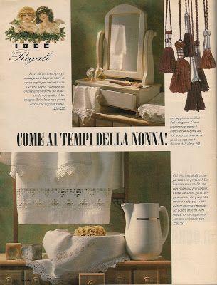 lo spazio di lilla: Regali di Natale: asciugamani in lino con bordi all'uncinetto per le più brave...