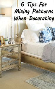 6 Tips for mixing patterns when decorating