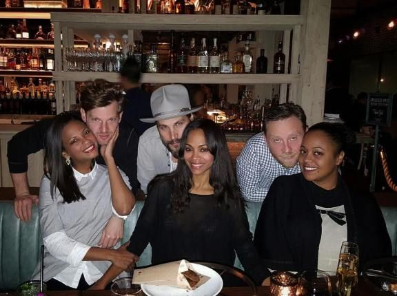 Actress Zoe Saldana shares photo of herself with her sisters and their husband..looks like they have a type - http://www.thelivefeeds.com/actress-zoe-saldana-shares-photo-of-herself-with-her-sisters-and-their-husband-looks-like-they-have-a-type/
