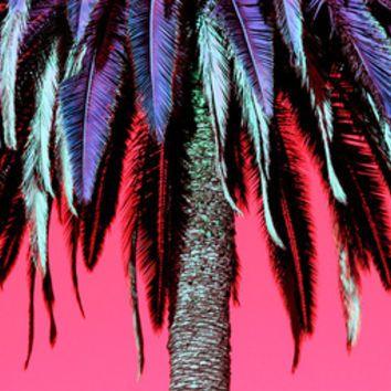 Palm Tree Neon Art Print by Derek Fleener