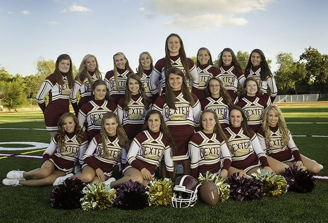 cheer team poses | The Dexter High School cheerleading team will participate in the 2012 ...