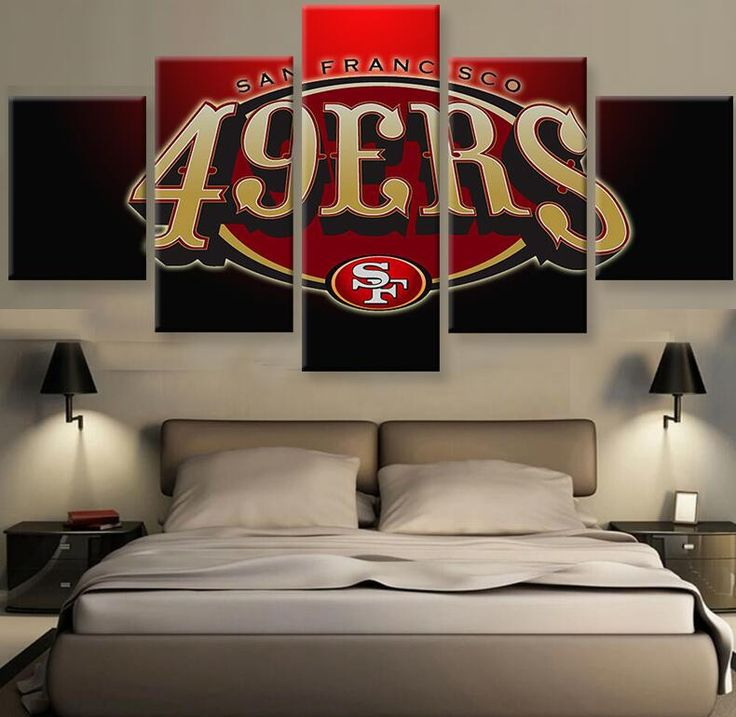 49ERS FANS - HQ 5-PIECE ART CANVAS PRINT