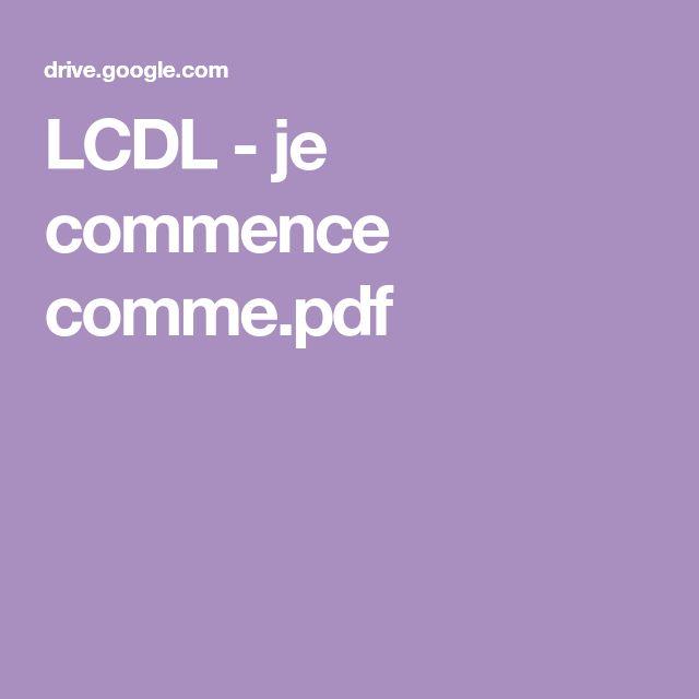 LCDL - je commence comme.pdf