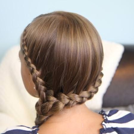 double lace braids for kids
