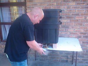 DIY stacked worm composting bins