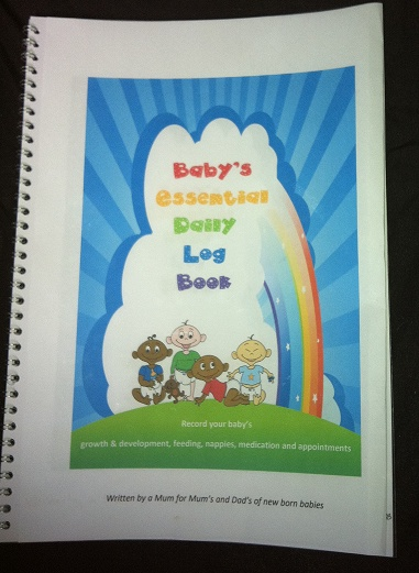 Baby's Essential Daily Log Book makes a unique and stylish mum to be/baby shower, new baby present www.babyeureka.com