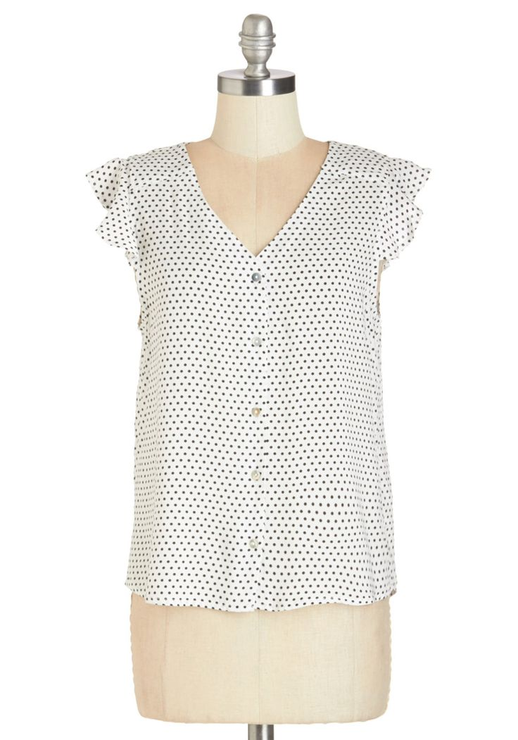 Door to Adorable Top in White | Mod Retro Vintage Short Sleeve Shirts | ModCloth.com
