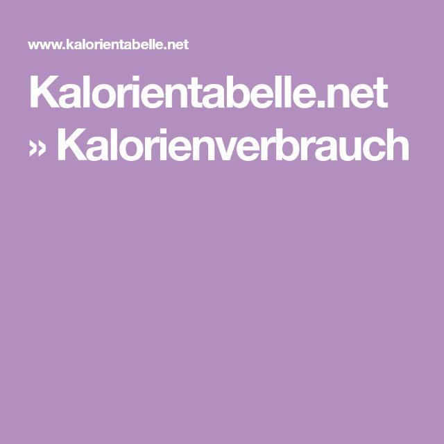 Kalorientabelle.net » Kalorienverbrauch