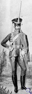 Офицер Гродненского гусарского полка, 1812-1817 годы