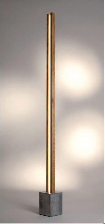 Lampadaire LED en bois LUBOIS LT - CINIER Radiateurs Contemporains