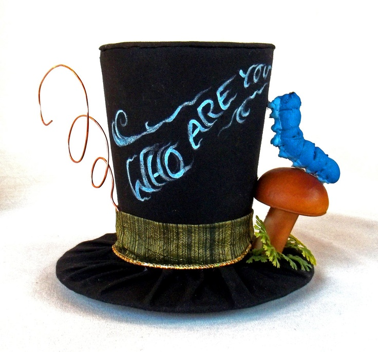 Tiny Top Hat: The Caterpillar - Alice in Wonderland - Costume Party Fascinator Photography Prop Wedding Small Mini tophat Miniature little. $50.00, via Etsy.