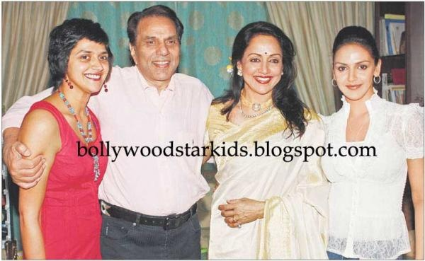 Hema Malini with her family at her birthday party