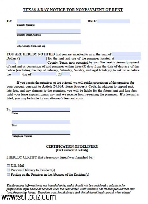 Download Texas Eviction Notice Windows Version You Can Get It From Softpaz For Free High Speed Serv Real Estate Forms Eviction Notice Real Estate Templates