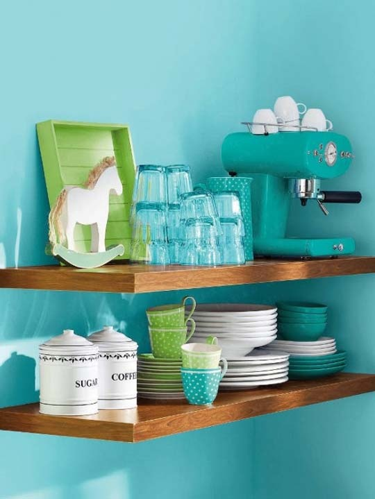 Open shelf storage - instead of upper some or all upper kitchen cabinets? Hmmm we'll see when we get there.