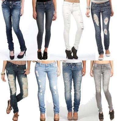 Фото девушек в туфлях под узкие джинсы