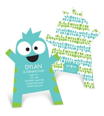 Kids Birthday Invitations -- Monster Hug Cut Out