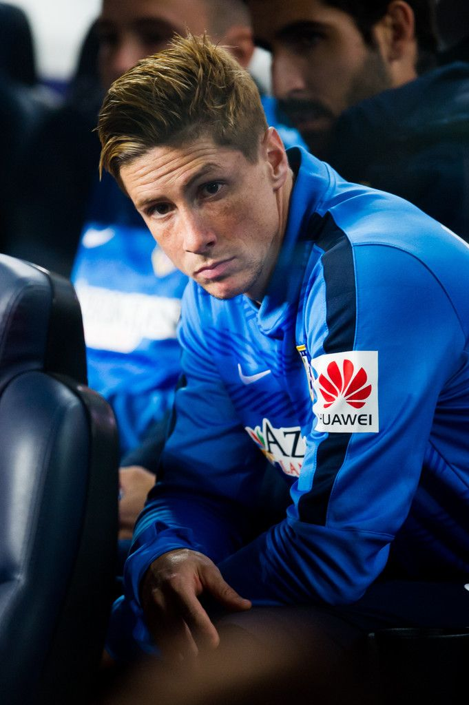 Fernando Torres of Club Atletico de Madrid looks on before the La Liga match between FC Barcelona and Club Atletico de Madrid at Camp Nou on January 11, 2015 in Barcelona, Catalonia.