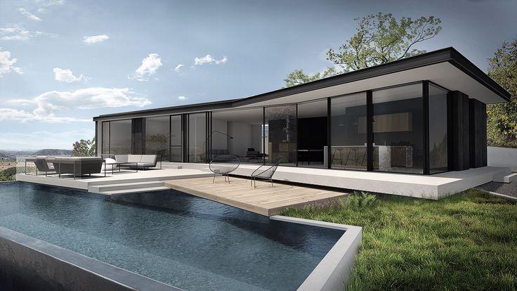 103 best Modern House images on Pinterest Modern homes, Future - orientation maison sur terrain